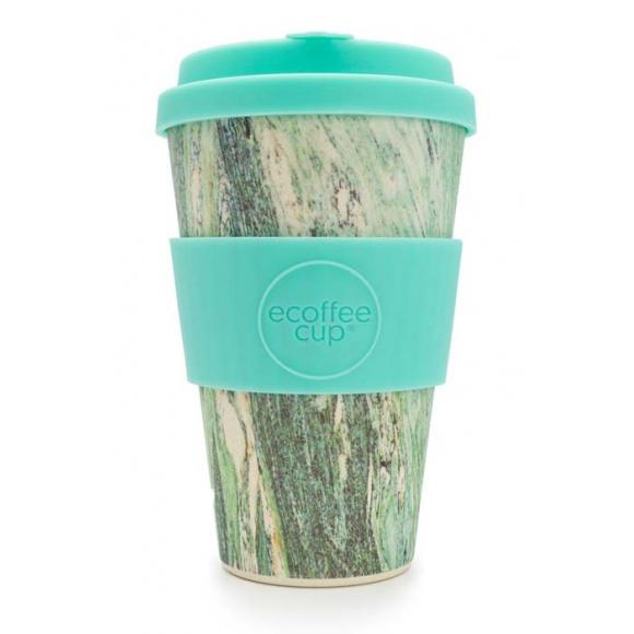 Gobelet en fibre de bambou Marmo Verde 14oz/400ml
