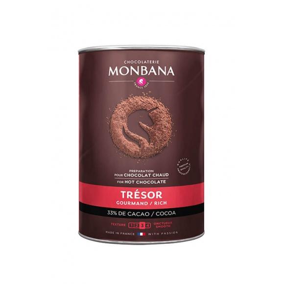 Monbana Lot 6 x 1kg Chocolat en poudre Trésor boîte