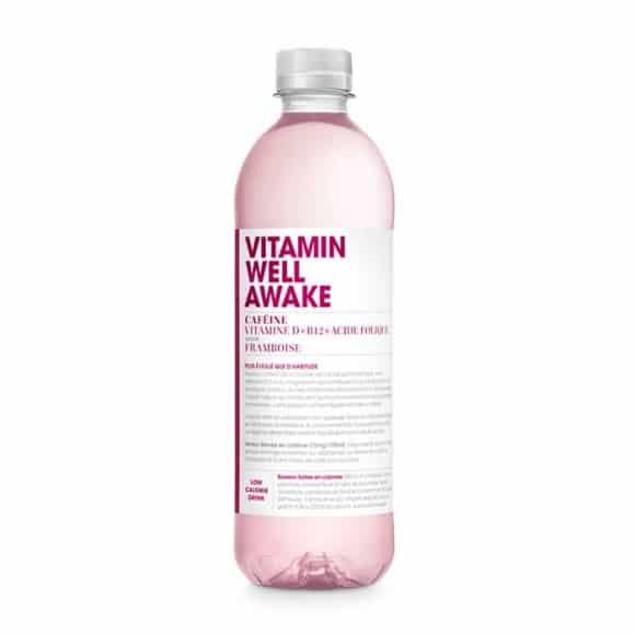 Awake boisson fonctionnelle framboise PET 12 x 500ml