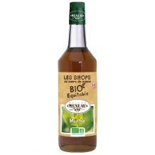 Sirop Menthe bouteille verre 1L BIO