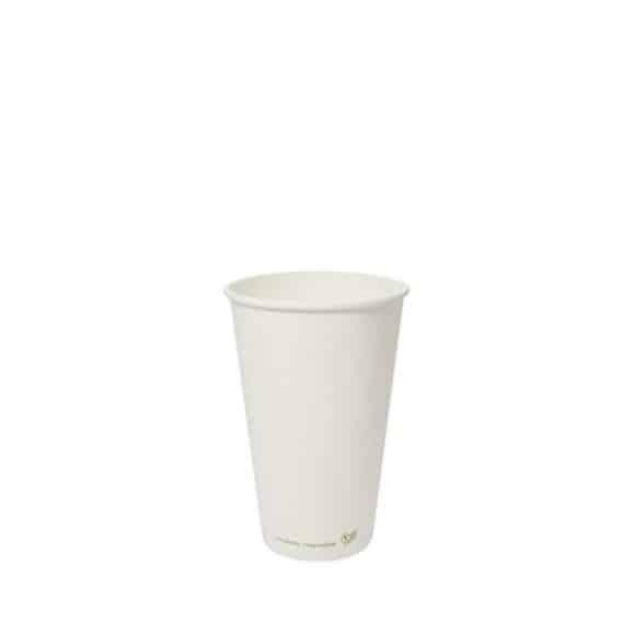 Sachet x 50 gobelets carton blanc 16oz/473mll BIO