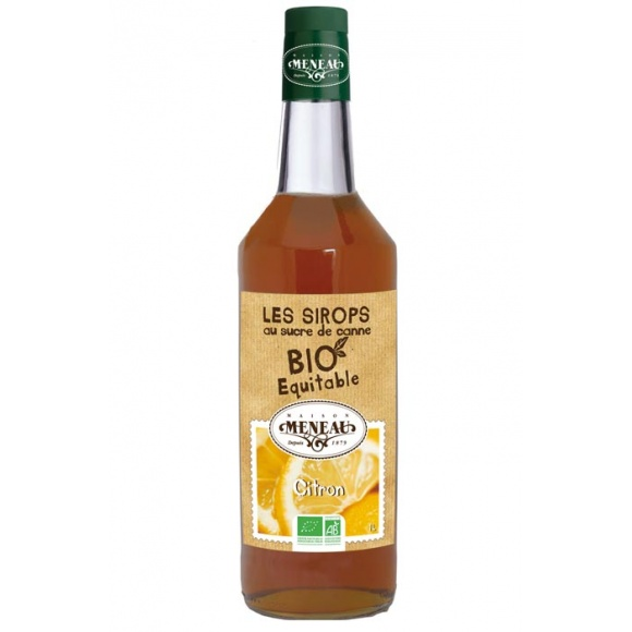 Sirop Citron bouteille verre 1L BIO