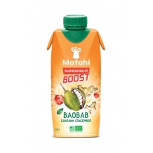 Boisson bio baobab guarana gingembre tetra pak 12 x 330ml
