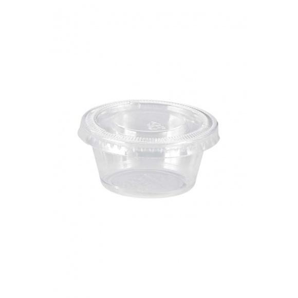Combo Pack Pot Portion et Couvercle PP 2oz/60ml