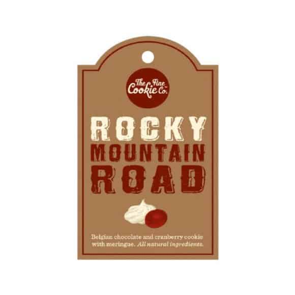 Etiquette cookies Rocky Mountain Road