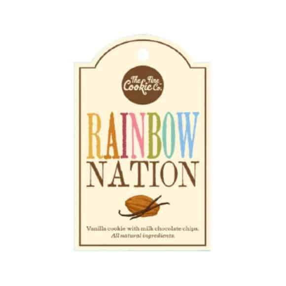Etiquette cookies Rainbow Nation