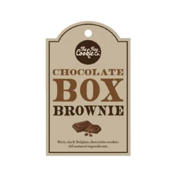 Etiquette cookies Chocolate Box Brownie