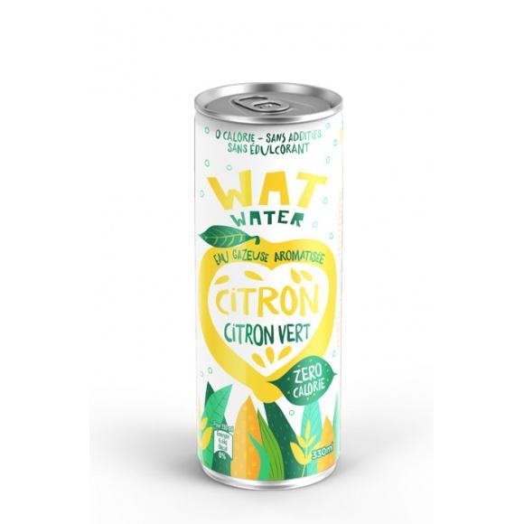 Eau pétillante Citron Citron vert canette 24 x 330ml BIO