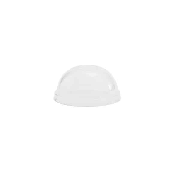 Couvercle dôme 100% compostable 6 à 10oz/177 à 300ml x50