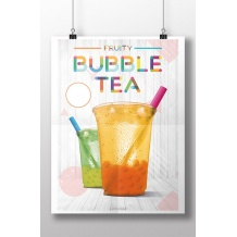 Affiche Bubble Tea recto/verso A2 42 x 59,4 cm