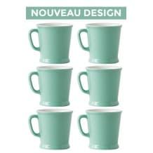 Set x 6 MUG porcelaine 230ml Vert