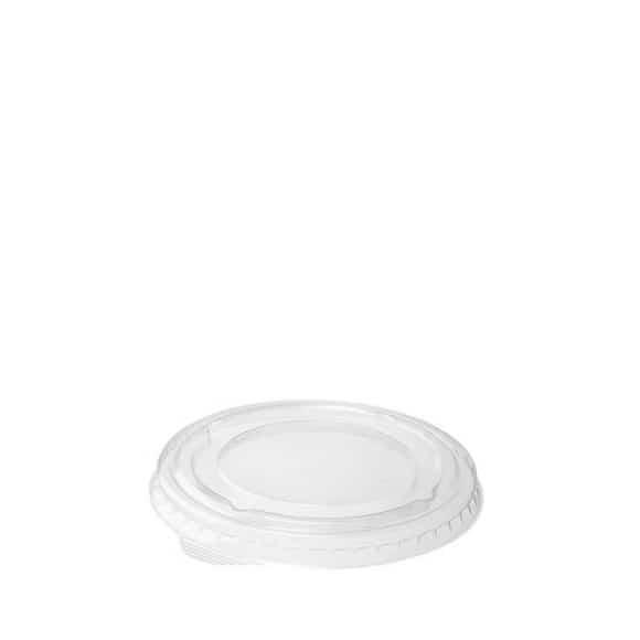 Couvercle plat fermé plastique rPET Ø95mm x 1000