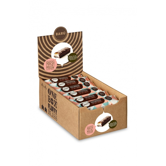 Barres marshmallow chocolat noir caramel Fleur de sel 18x30g