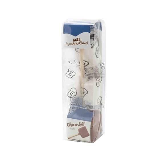 Lot de 4 présentoirs Chocolat au lait & guimauve bâtonnet 24 x 33g