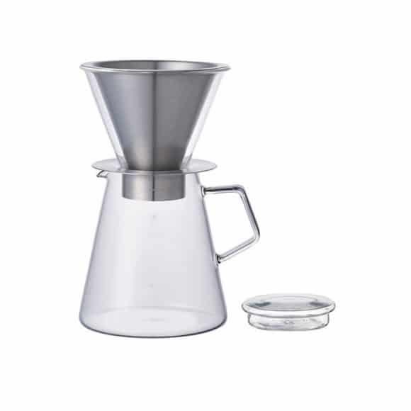 Cafetière Carat verre avec dripper et filtre permanent 6 tasses