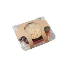 CLASP CLIP BAGEL étui kraft avec film pour bagel x500