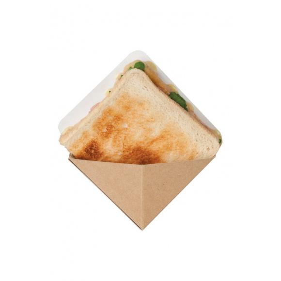 Sachet x 500 poches à sandwich triangulaire kraft