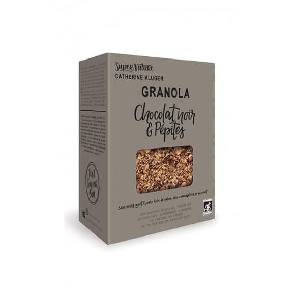 Lot de 10 granola chocolat noir et pépites boîte 350g BIO