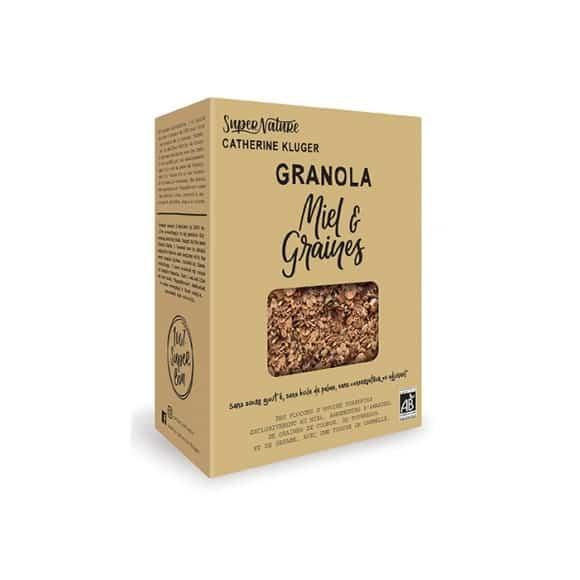 Lot de 10 granola miel et graines boîte 350g BIO