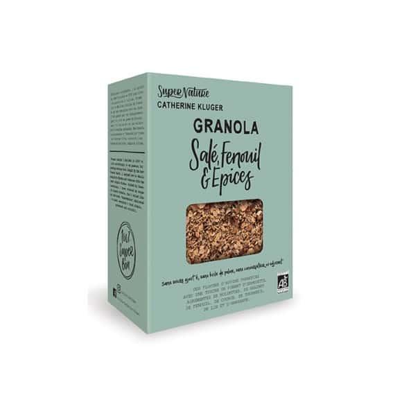 Granola salé fenouil et épices boîte 350g BIO
