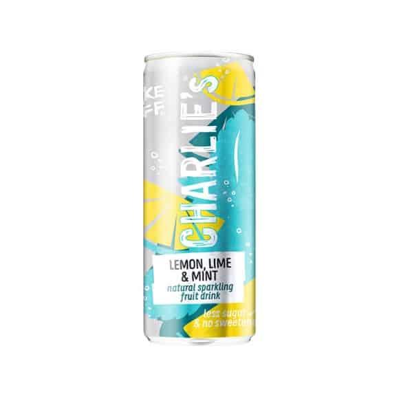 Soda pétillant naturel Citron Citron vert Menthe canette 12 x 250ml