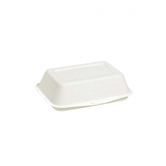 Boîte lunch blanc bagasse x50