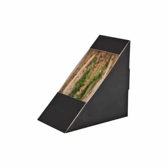 Boîtes kraft noir pour Sandwich Triangle Double