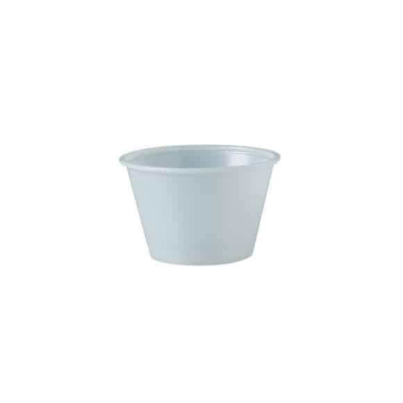 Solo - Pots dégustation PET blanc 4oz/118ml