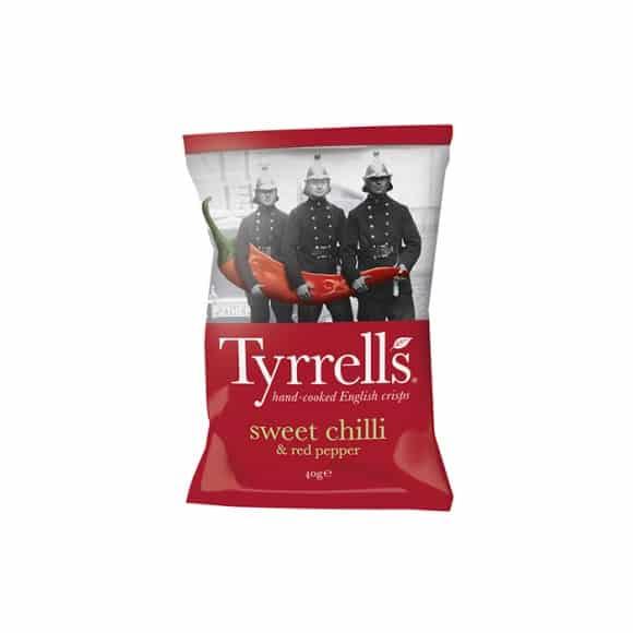 tyrrells - Chips Piment Doux et Poivron rouge 24 x 40g