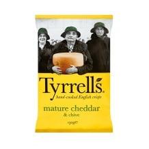 Tyrrells Chips Cheddar affiné et Ciboulette 12 x 150g