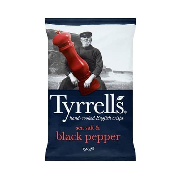 Tyrrells Chips Sel et Poivre Noir 12 x 150g