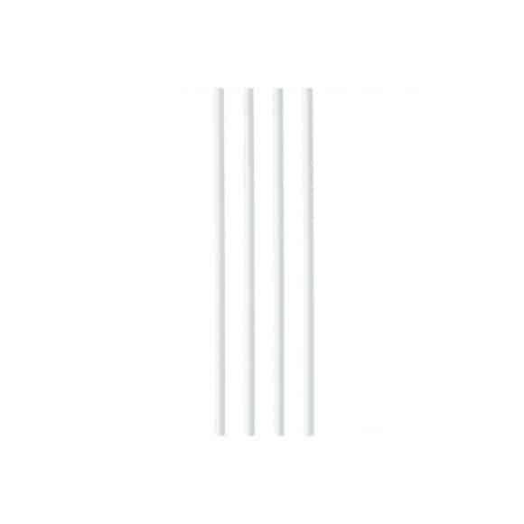 Pailles papier blanches Ø6mm x 250