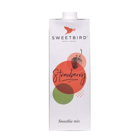 Sweetbird Smoothie Fraise tetrapak 8 x 1L