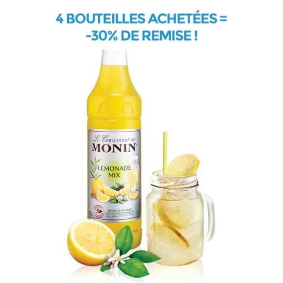 Lot de 4 concentrés Lemonade Mix bouteille PET 1L