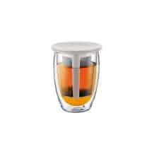 Tea For One Verre 12oz-350ml + Infuseur à thé Blanc