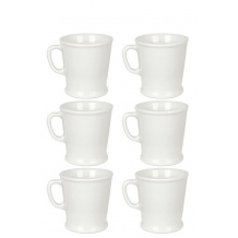 ACME & CO Set x 6 tasses porcelaine 230ml Blanc