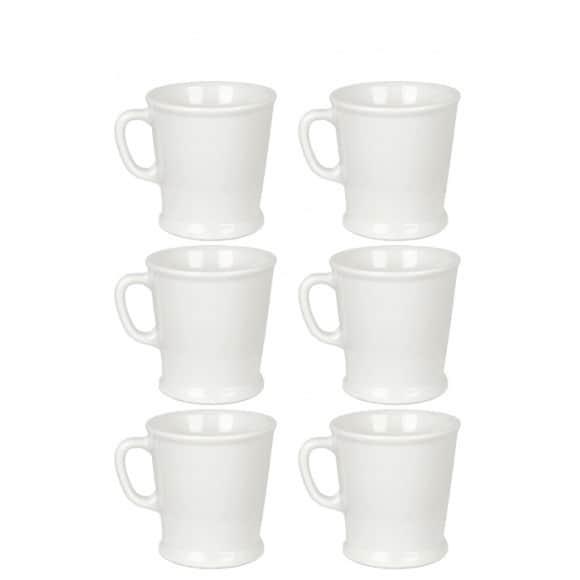 ACME & CO Set x 6 tasses porcelaine 230ml Blanc