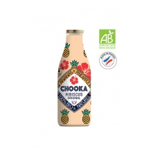 Chooka Jus Ananas Hibiscus bouteille verre 12 x 250ml BIO