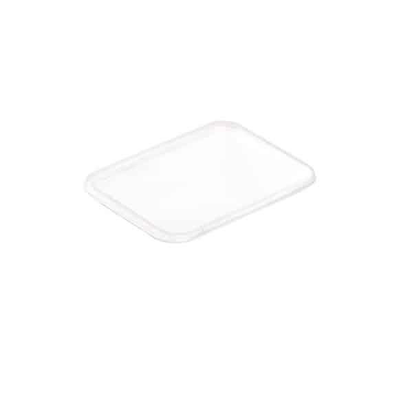Couvercles PP pour bol rectangle pulpe de canne 25oz/750ml x25