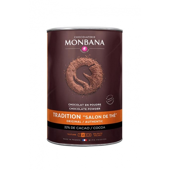 Monbana Chocolat en poudre Salon de thé boîte 1kg
