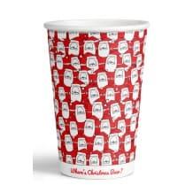 Sachet x 50 gobelets de Noël 2019 rouge 12oz/355ml