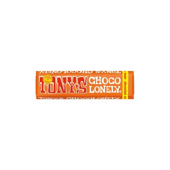 Tony's barre chocolat lait caramel salé présentoir 35x47g