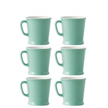 Lot de 6 sets x 6 MUG porcelaine 230ml Vert