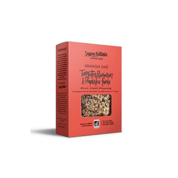 Granola salé Tomate Romarin & Paprika boîte 160g BIO