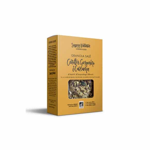 Granola salé Carotte Gingembre & Curcuma boîte 160g BIO