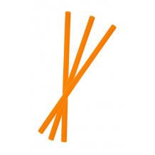 Sachet x 250 Pailles droites oranges D.8 mm