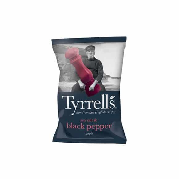 Tyrrells - Chips Sel et Poivre Noir 24 x 40g