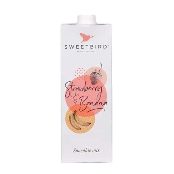 Sweetbird Smoothie Fraise Banane tetrapak 8 x 1L