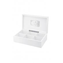 KUSMI TEA Coffret en bois laqué blanc 6 références