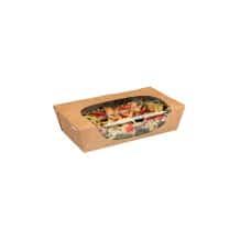 Salade Box boîtes à salade kraft avec fenêtre 35oz/1L x200